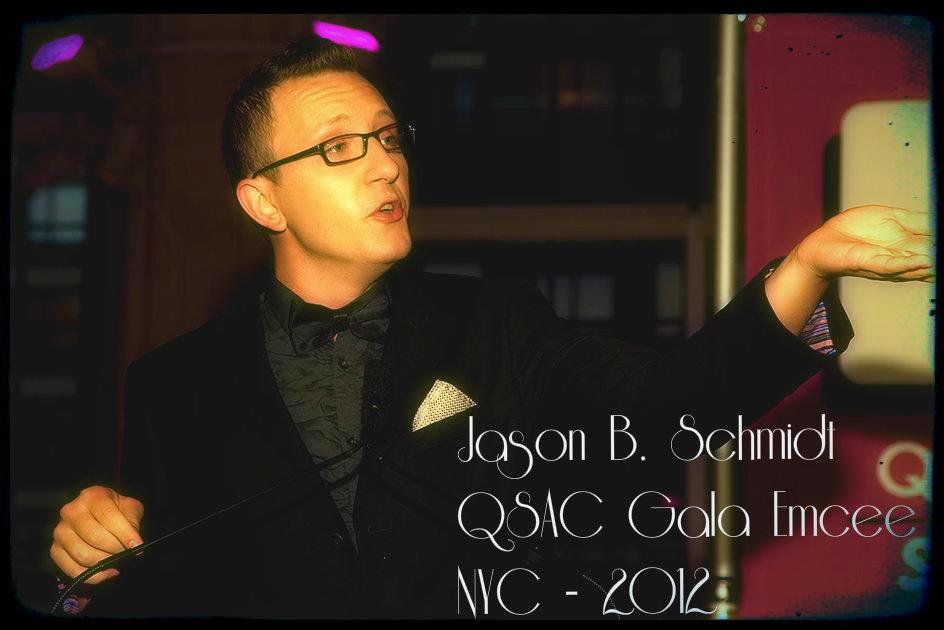 Jason B. as Emcee for QSAC's 2012Gala
