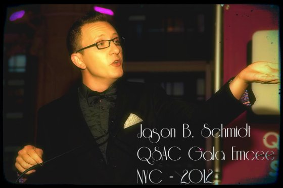 Jason B. as Emcee for QSAC's 2012 Gala