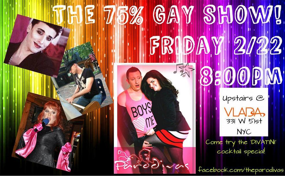 The 75% Gay Show@Vlada!