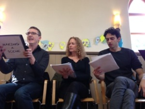 Peter, Sondra, Edward at Making A Scene Reading 3_15_14